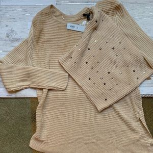 NWT APT 9 Sweater with Detachable Cowl Neck